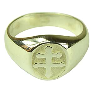 Souvenirs of France - Cross of Lorraine Ring - Size: 10.5 - Material: Solid Silver