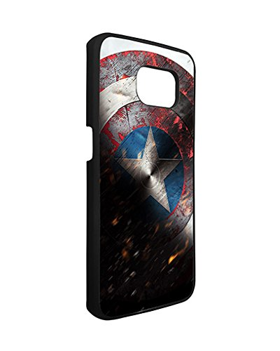 Marvel Samsung Galaxy S6 Edge Case Spiderman SuperHero, Galaxy S6 Edge Case Marvel Comic Logo TPU Silicone Protective Case Cover for Girls