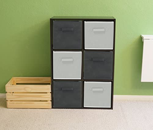 home, kitchen, storage, organization, baskets, bins, containers,  open storage bins 6 picture 6 Pack - SimpleHouseware Foldable Cube Storage Bin, Dark deals