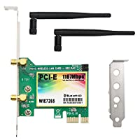 QNINE 1167Mbps PCI-e Wireless Network Card, Dual Band 2.4GHz/5GHz Bluetooth 4.2 WLAN WiFi Adapter for PC Desktop, Supports Windows XP, Win 7,Win 8,Win 8.1,Win 10