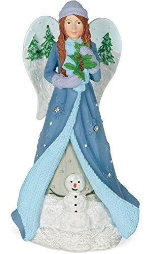 (AngelStar 20413 Winter Angel Figurine - Love, Light Blue)