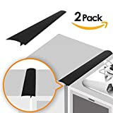 Appliances : Linda's Silicone Kitchen Stove Counter Gap Cover Long & Wide Gap Filler (2 Pack) Seals Spills Between Counters, Stovetops, Washing Machines, Oven, Washer, Dryer | Heat-Resistant and Easy Clean (Black)