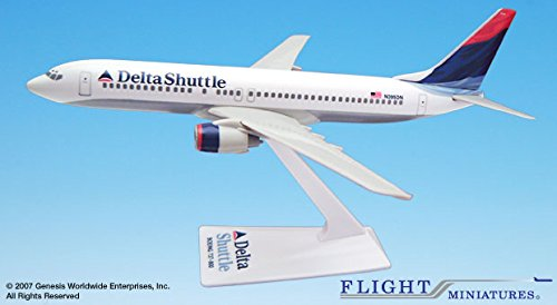 (Flight Miniatures Delta Shuttle Airlines Boeing 737-800 1:200 Scale REG#N395DN Display Model with Stand)