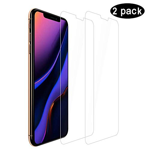 Compatible for iPhone 11 Pro Max Screen Protector/iPhone XS Max Screen protector, HD Clear No Bubble 9 H Hard Tempered Glass Screen Protector for iPhone 11 pro MAX/iPhone XS MAX 6.5 [2-Packs]