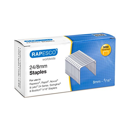 Rapesco Staples, 24/8 mm [Box of 5,000]