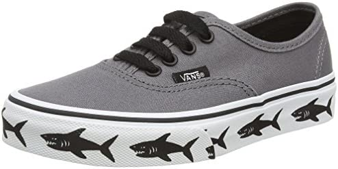 Vans Unisex-Kinder Authentic Low-Top, Grau (Sidewall Sharks/Tornado), 34.5 EU