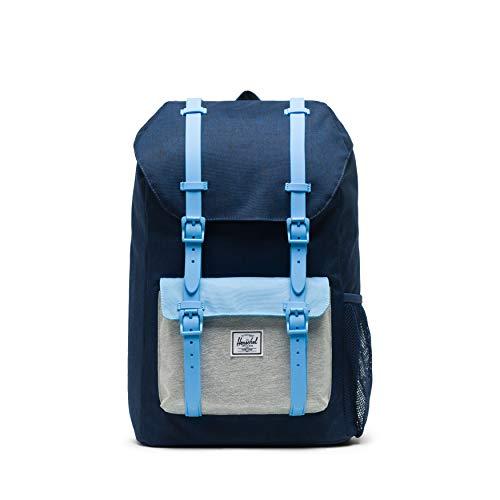 Herschel Little America Youth Kid's Backpack, Medieval Light Grey Crosshatch/Alaskan Blue, One ()