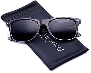 Black Classic Horn Rimmed 80's Retro Sunglasses