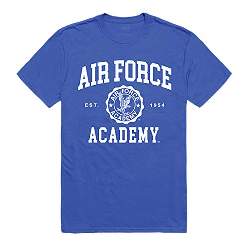 Academy States United Air Force - USAFA United States Air Force Academy NCAA Mens Seal College Tee t Shirt, Small