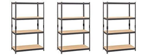 l Boltless Rivet Particle Board Shelving, 4 Shelves, 60