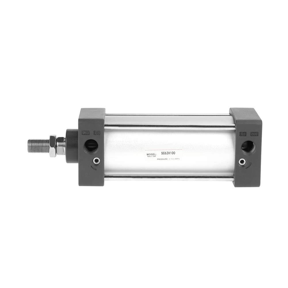 Cilindro neumático de aire de doble acción, 63 mm de diámetro 100 ...