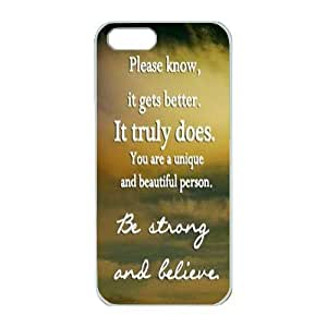 iPhone 5/5S Case,Fashion Durable White Side Diy design for Apple iPhone 5/5S(4.0 inch),PC material iPhone 5/5S Cover ,Safeguard Phone from Damage ,Designed Specially Pattern from our Life with Stay Strong inpirational quotes Designed on Sky. by runtopwellby Maris's Diary