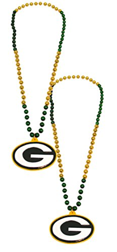 Official National Football League Fan Shop Authentic NFL Team Party Mardi Gras Custom Tailgate Beads 2-pack (Green Bay (Green Bay Packers Halloween Decorations)