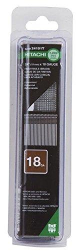 Hitachi 24101T 3/4'' x 18 Gauge Finish Brad Nails - 1000 Count