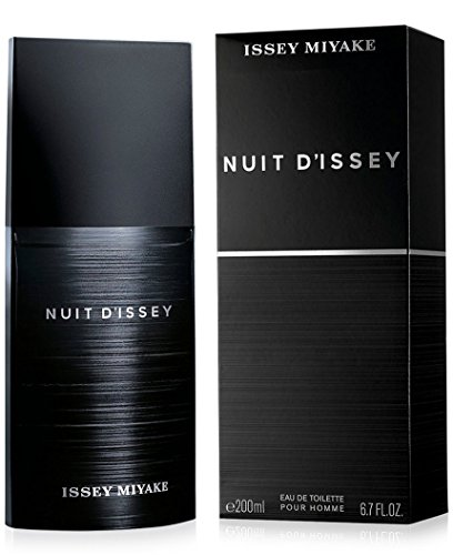 Issey Miyake Nuit D' Issey for Men Eau De Toilette Spray, 6.7 Ounce