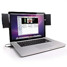 GOgroove SoundClip Portable Clip-On USB Speaker System - Plug-n-Play for Toshiba , Asus , Mac , Macbook , HP , Samsung , Acer , Dell , Sony , Lenovo Laptops , Netbooks , Ultrabooks , Chromebooks & More