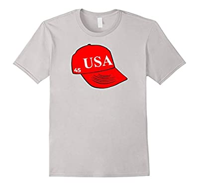 USA 45 President Trump Hat on a T-shirt