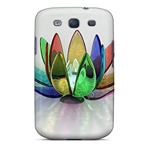 First-class Case Cover For Galaxy S3 Dual Protection Cover Flower 53