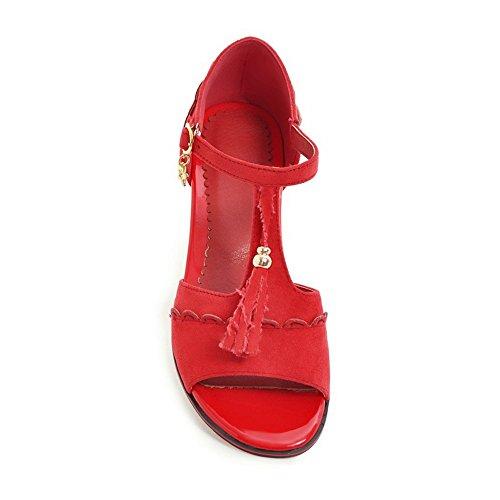 AN AN Red Donna Ballerine Donna Red Ballerine EUv6qU