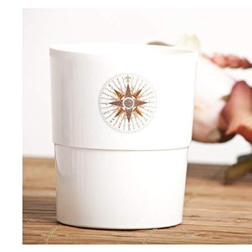 impilabile capacit/à 280 ml Cartaffini Colore: Bianco Avorio Bicchiere Rosa dei Venti in melamina Set 6 Pezzi /Ø 7,5 cm//H 8,8 cm