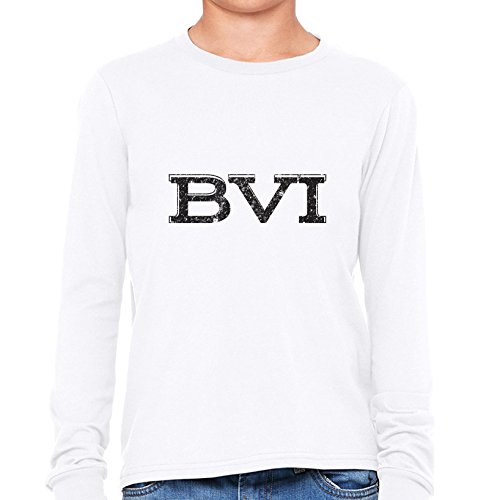 Jost Van Dyke British Virgin Islands (BVI British Virgin Islands Simple Font Graphic Girl's Long Sleeve T-Shirt)