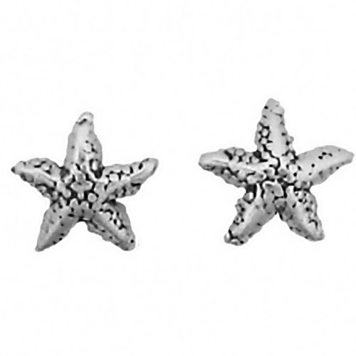 Corinna-Maria 925 Sterling Silver Starfish Earrings Studs Tiny Mini Stainless Steel Posts and Backs (Starfish Mini Earrings)