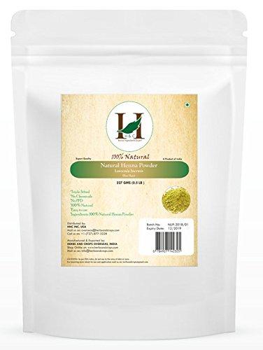 H&C 100% Natural and Pure Henna Powder / Lawsonia Inermis (Organically Grown) 227 gms (1/2 LB) for Hair (Henna Leaf Powder)