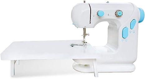 WANGLXST Eléctrica Máquina de Coser Sastre Mini Portatil Versátil, Fácil de Usar y Práctica, con Gran Mesa de Costura, White: Amazon.es: Deportes y aire libre