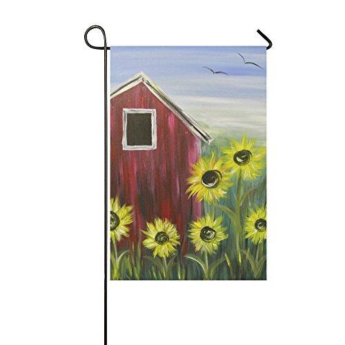 zhiz.ZY Yard and Home Outdoor Decor - Double Sided Polyester Sunflower Farm House Garden Decor Flag,12