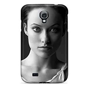 Pretty Galaxy S4 Case Cover/ Olivia Wilde In Black And White Series High Quality Case