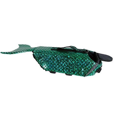 Green S Green S ANLIN Dog Life Jacket Mermaid Sea-Maid Pet Costume Swimming Clothes Apparel Pet Swimming Life Jacket (S, Green)