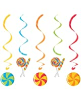Creative Converting Sugar Buzz Assorted Dizzy Danglers Hanging Party Decorations