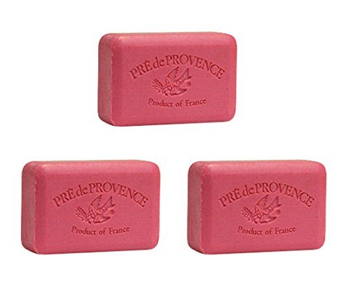 Three (3) 250 gram Bars Pre de Provence Shea Butter Enriched Soaps in Raspberry ()