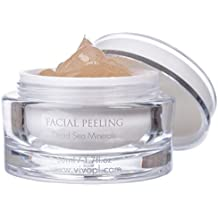 Vivo Per Lei Facial Peeling Gel | Contains Dead Sea Minerals and Nut Shell Powder | Gentle Face Exfoliator Scrub and Blackhead Remover | Peel Your Skin to a Fresher You | 1.7 Fl. Oz.