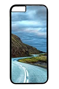 Case For Iphone 5/5S Cover and Cover -Curvy road around iceland PC Hard Plastic Case For Iphone 5/5S Cover inch Black