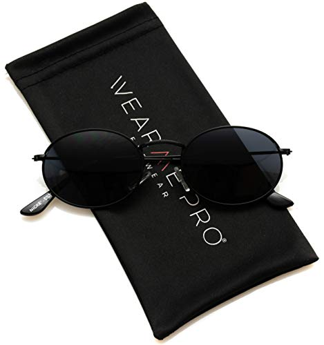 - WearMe Pro - Small Oval Metal Frame Tinted Lens Sunglasses