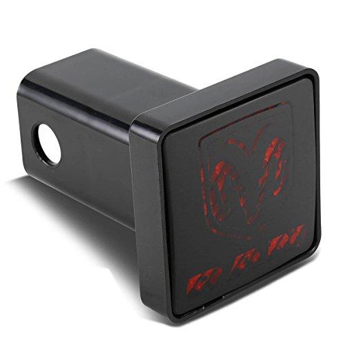 Bully CR-007D 2″ Black Hitch Cover with Ram Logo LED Brake Light
