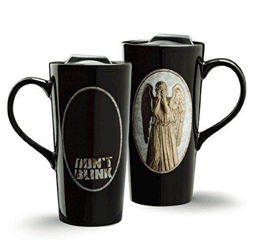 Doctor Who Weeping Angel Heat Change 20oz Ceramic Travel Mug by TG Angel Ceramic Travel Mug