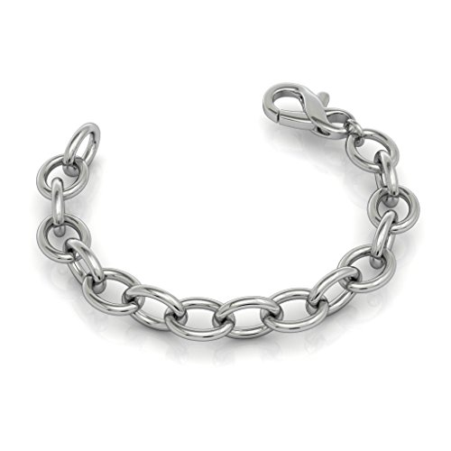 Bold Cable Link Bracelet in 925 Sterling Silver