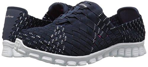 888222896898 - Skechers Sport Women's EZ Flex 2 Tada Fashion Sneaker, Navy/Silver, 10 M US carousel main 5
