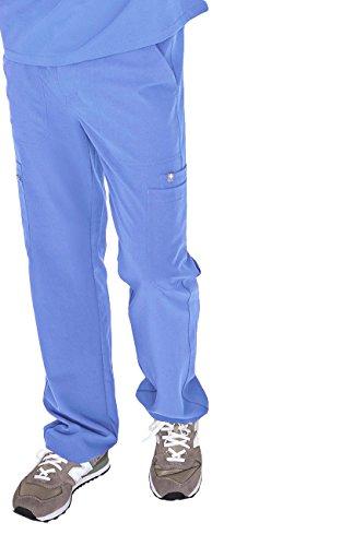 FIGS Medical Scrubs Mens Cairo Cargo Pants (Ceil Blue, S)