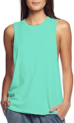 HyBrid & Company Womens Super Comfy Cotton Jersey Relaxed Tank Top Shirt