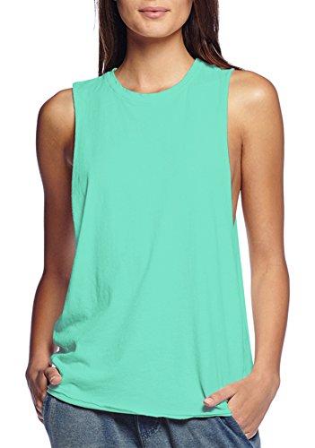 HyBrid & Company Womens Cotton Jersey Tank Top Shirt KT44040 Mint XLarge -
