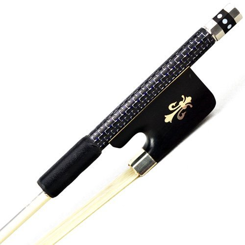 New SILVER BRAIDED Carbon Fiber Cello Bow 202C MODEL for PRO