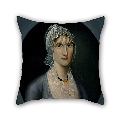 Oil Painting Joshua Johnson - Portrait Of Mrs. Barbara Baker Murphy (Wife Of Sea Captain) Pillowcover 20 X 20 Inches / 50 By 50 Cm Best Choice For Shop Home Office Home Husband Boy Friend Seat Wit