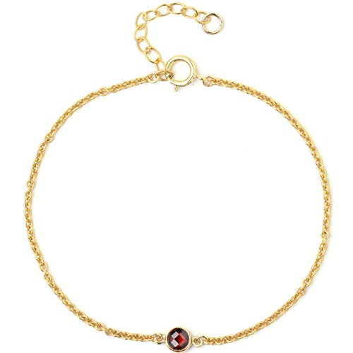 BENIQUE Dainty Bracelet for Women - 925 Sterling Silver, 14K Gold Filled, Rose Gold Filled, AAA Cubic Zirconia CZ, Stackable Jewelry, Made in USA, 6.5