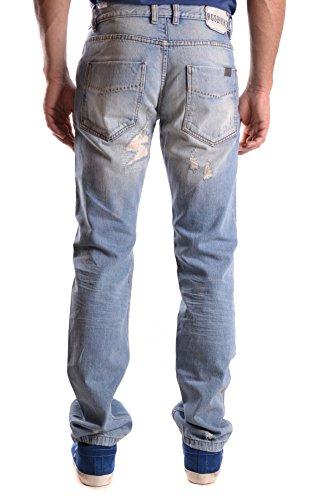 Bikkembergs Herren MCBI042083O Blau Baumwolle Jeans