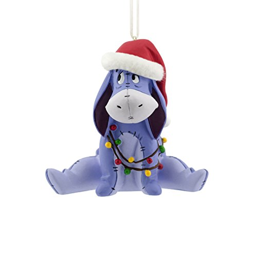 Hallmark Disney Winnie the Pooh Eeyore Christmas Ornament (Classic Cap Pooh Classic)