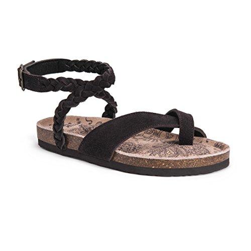 MUK LUKS Women's Estelle Sandals-Brown, Coffee 11 M US