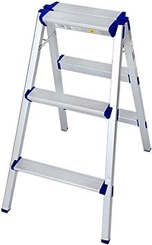 C-J-Xin Dos caras de ingeniería Escaleras de aleación de aluminio Escalera del taburete/parque/granja Escalada Escalera plegable Escalera 3 4 Escalera plegable Escalera de casa (Size : 63 * 79cm): Amazon.es: Bricolaje y